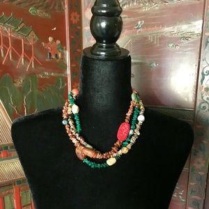 Handmade Multi Strand Necklace